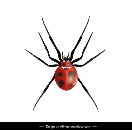 ladybug insect icon colored modern design