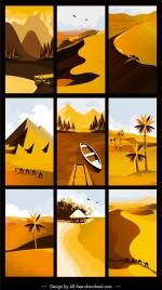 landscape paintings colored classic decor