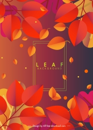 leaf background bright red yellow falling sketch