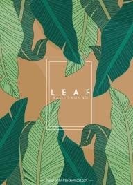 leaf background classical green sketch