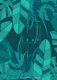 leaf background dark classical green monochrome design