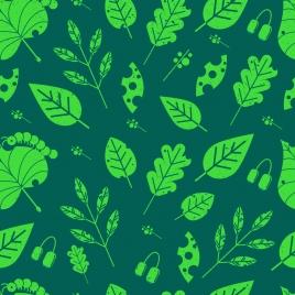 leaf background dark green design
