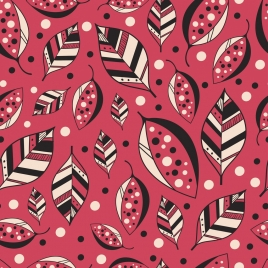 leaf background flat icons pink decor