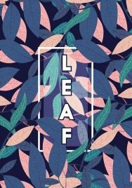 leaf background multicolored dark design