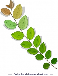 leaf branch background multicolored modern design