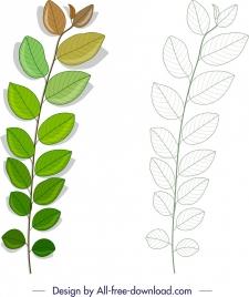 leaf icon sketch shiny modern design