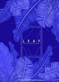 leaf monochrome background dark blue design