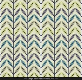 leaf pattern illusive flat repeating handdrawn classic decor