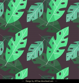 leaves background classical dark green flat design