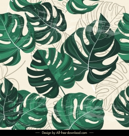 leaves background colored retro flat sketch