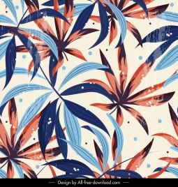 leaves background colorful retro design