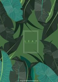 leaves background dark classical monochrome decor