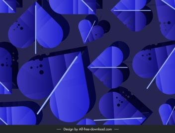 leaves background heart shape decor dark blue