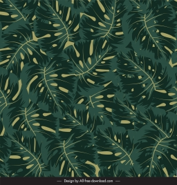 leaves background luxuriant sketch classic green decor