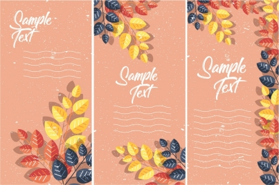 leaves background templates colorful classical decoration