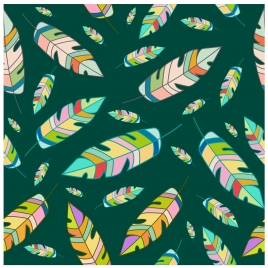leaves pattern design with colorful style