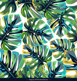 leaves pattern template colorful classical decor