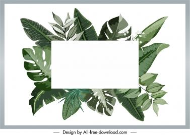 leaves text box background green retro design