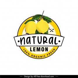 lemon fruit label template colored classic decor