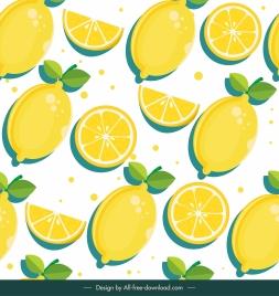 lemon fruit pattern template bright flat classic sketch