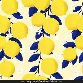 lemon pattern bright colored classic luxuriant sketch