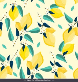 lemon pattern template bright classical decor