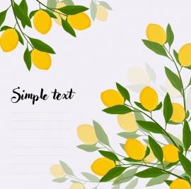 lemon tree background yellow green decoration