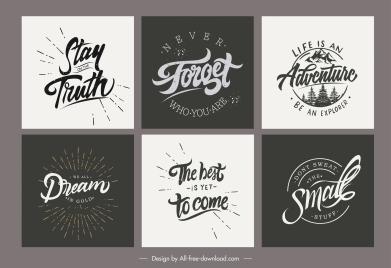 life inspiration quotation templates classic calligraphic design