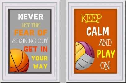lifestyle banner templates texts balls decor
