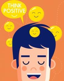 lifestyle poster man head speech bubble smile emoticon
