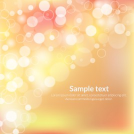 light and circle romantic abstract background