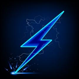 lightning icon bright sparkling design