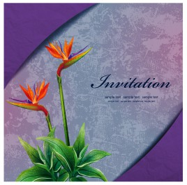 lily flower invitation card