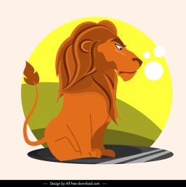 lion king icon cartoon character sketch