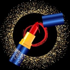 lipstick advertising shiny sparkling circle decoration