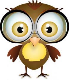 little bird with glasses
