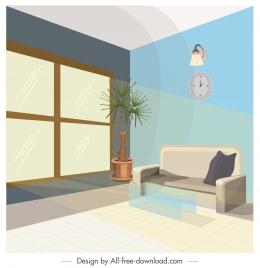living room decor template modern decor 3d design
