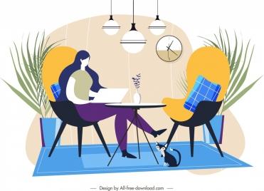 living room decor template simple modern design