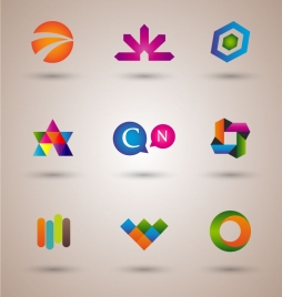 logo design elements illustration with colorful style