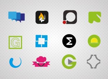 logo design with user interface illustration
