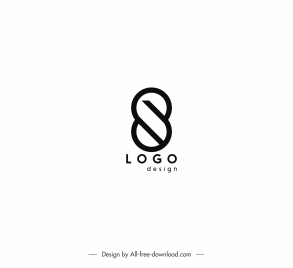 logo template abstract shape flat black white design