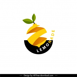 logo template lemon sketch 3d cut sketch