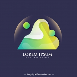 logo template modern abstract colorful light effect decor
