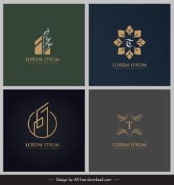 logo templates flora leaf symmetry geometric flat sketch