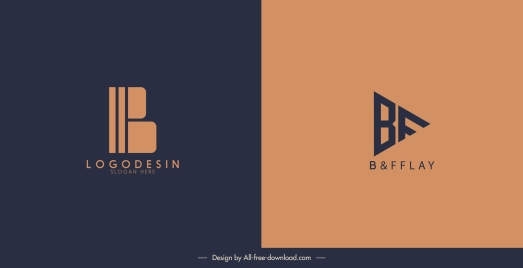 logotype templates flat texts shapes sketch