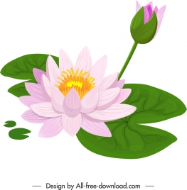 lotus flower painting colorful classical handdrawn sketch