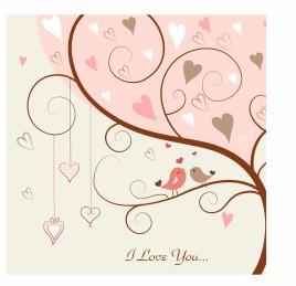 Love bird in the tree
