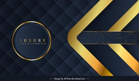 luxury background template circle squares decor dark modern
