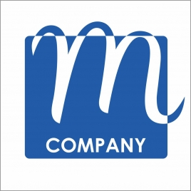 m logo for a shopping storecompany or an online store