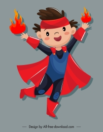 magic kid icon cute cartoon character sketch